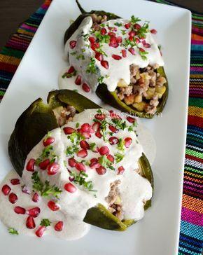 Chiles en nogada www.pizcadesabor.com