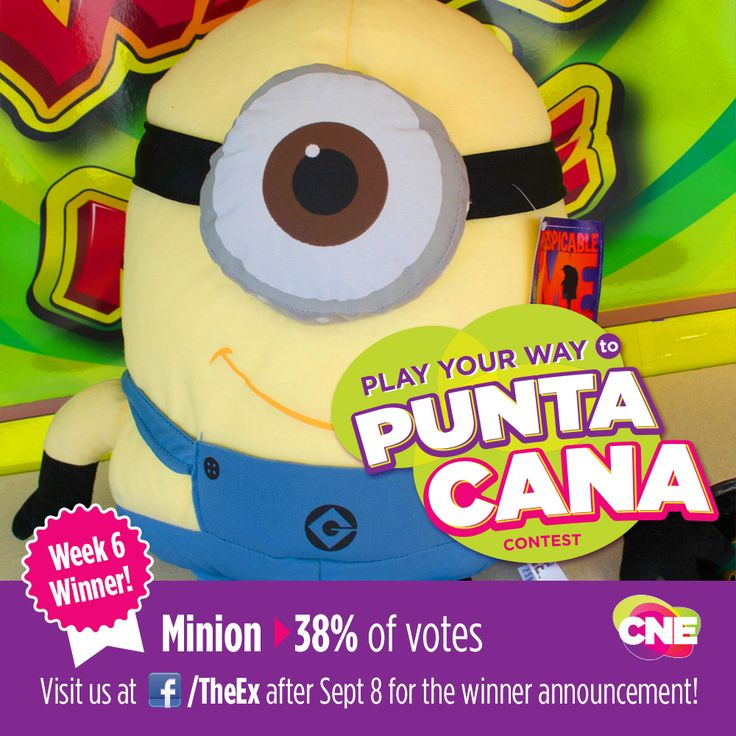 Play Your Way to Punta Cana Contest | The results are in! Click through to find out if you are a weekly winner! Make sure to look out for the grand prize winner announcement after September 8.  #contest #CNE2014 #toronto #letsgototheex