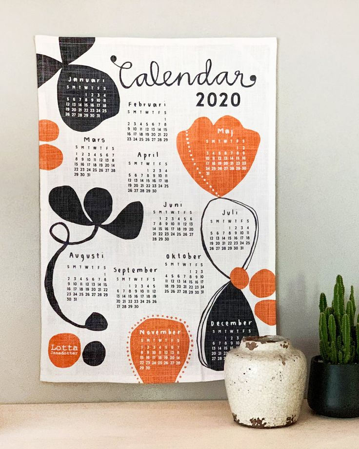 20 Modern Calendars for 2020 Design Milk Modern