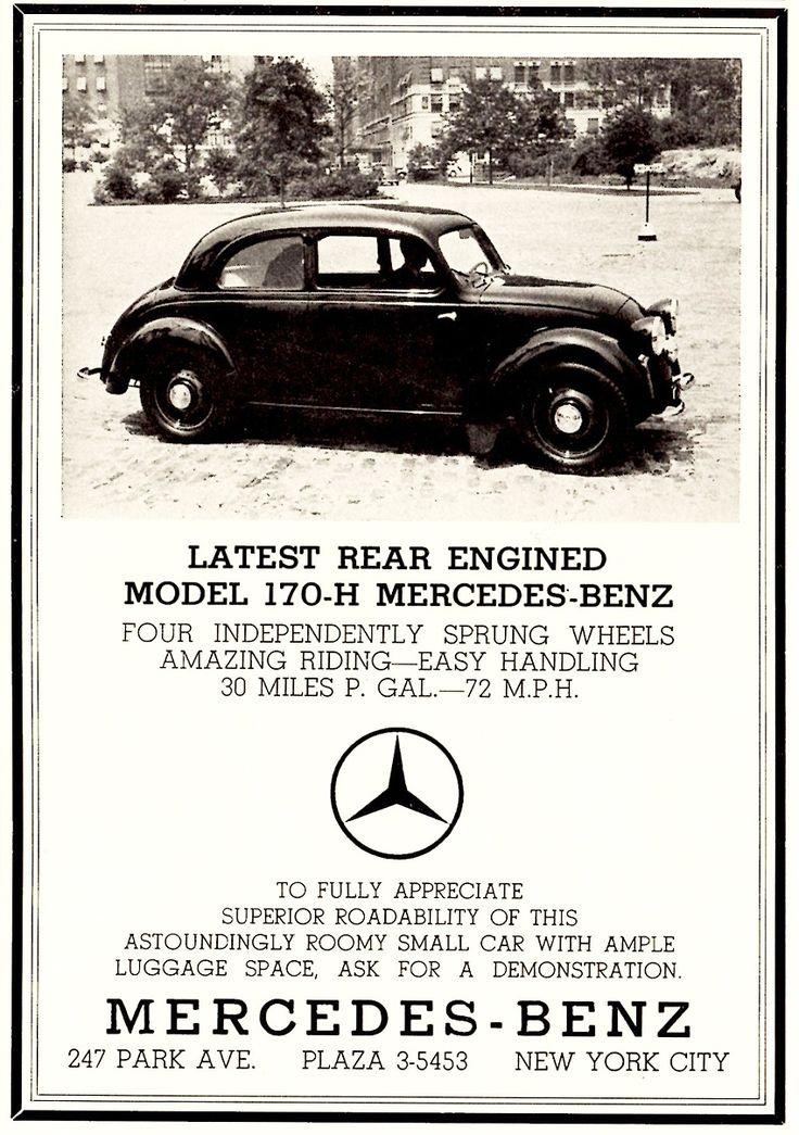 1000 Images About Vintage Ads Mercedes Benz On