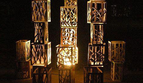 DIY Holiday Decor Idea: Recycled Wood Wine Box Lighting | Designs & Ideas on Dornob