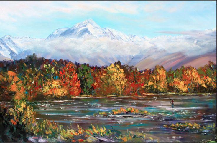 Autumn Mountains - By Helen Blair http://shop.helenblairsart.co.nz