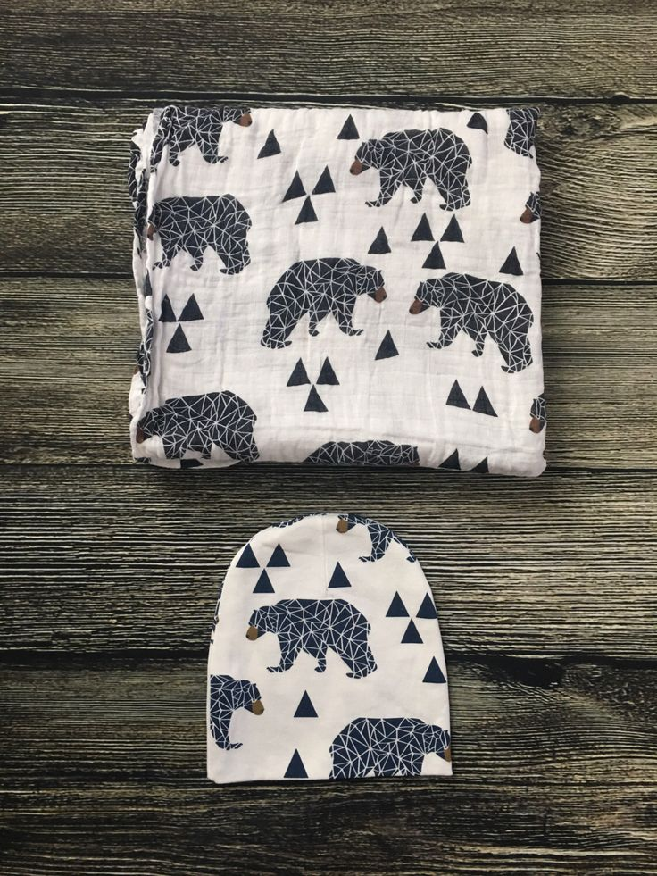 A personal favorite from my Etsy shop https://www.etsy.com/listing/489832046/bear-swaddle-set-bear-blanket-baby-gift