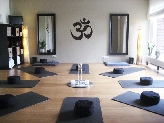 large om symbol yoga decal for living room dorm by zestygraphics 3800 - Home Yoga Studio Design Ideas