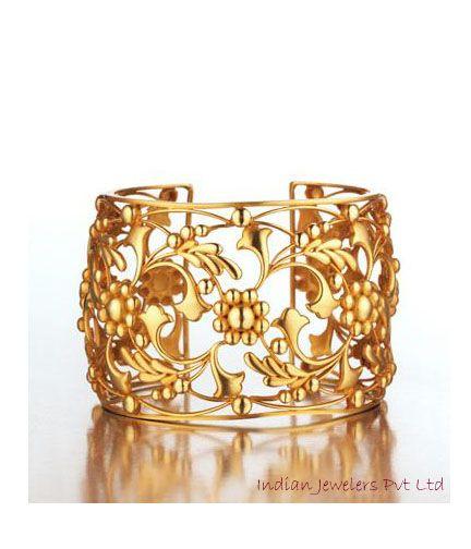 Stunning Indian Gold Bangle, beautiful detail!