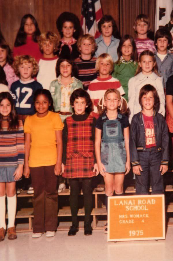 Janet Jackson's school photo.