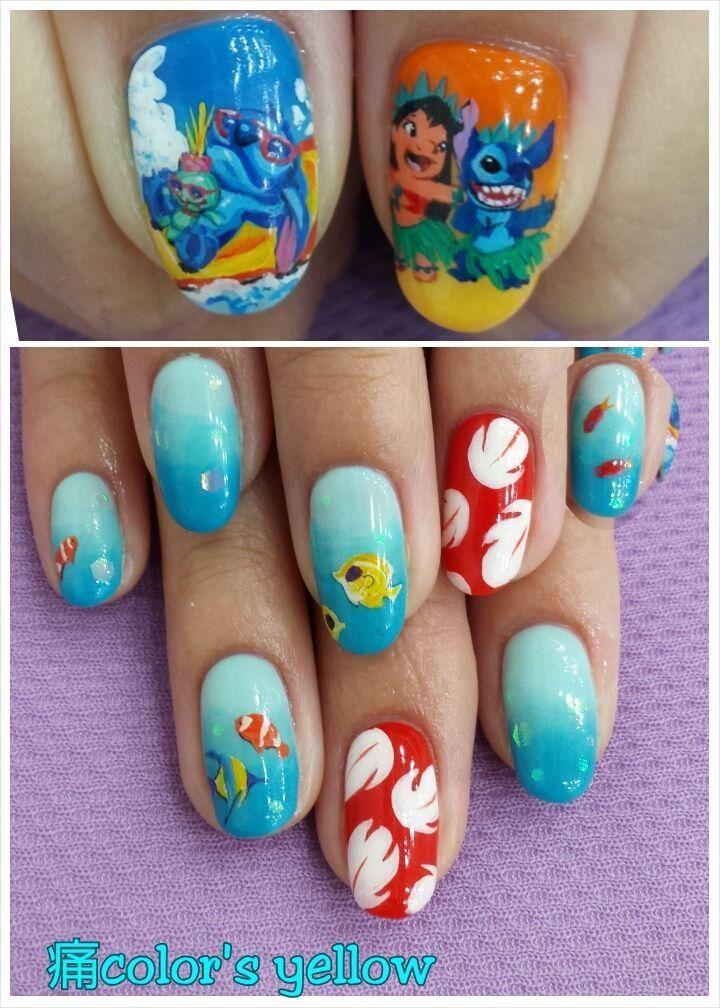 Color Sすみな西山 On Disney Nails Nail Art Designs Nails