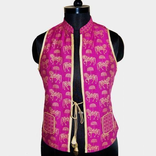 Black & Magenta Horse Print Jacket by FunkForHire via Tadpole Store