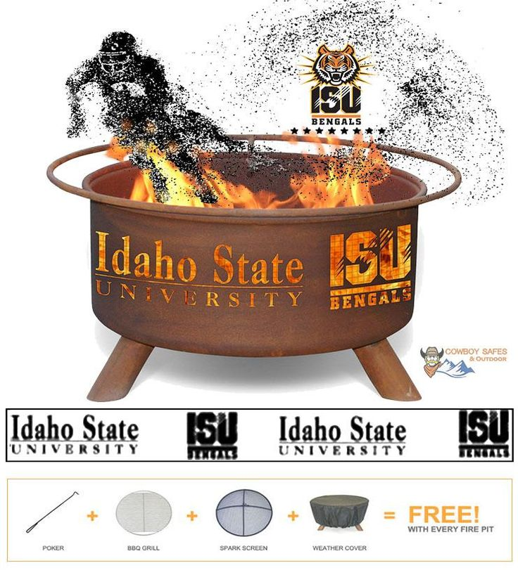 Show Your Pride and Entertain your Friends with the Idaho State University Fire Pit! – College Fire Pit