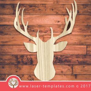 Deer head template for laser cutting. Vector online store. Free designs. Deerhead.