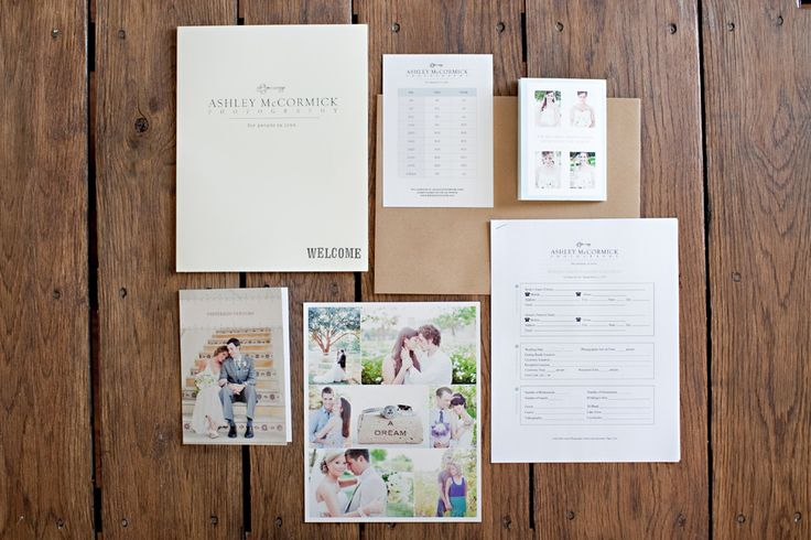 """Ashley of Ashley McCormick Photography shares, """"I used the Wedding Client Welcome Packet, the Complete Legal Wedding Contract, and the price list from the Inspire Guide (modified a bit) to complete the welcome kit for my clients."""" #designaglow"""