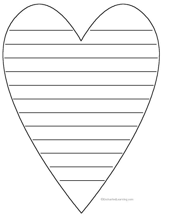 Write a poem around the perimeter (outer edges) of the heart. Description from enchantedlearning.com. I searched for this on bing.com/images