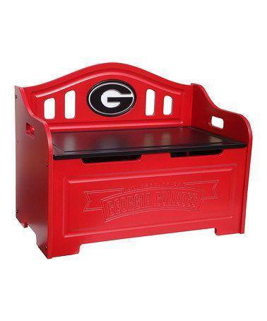 Georgia Bulldogs Storage Bench by Fan Creations #zulily #zulilyfinds