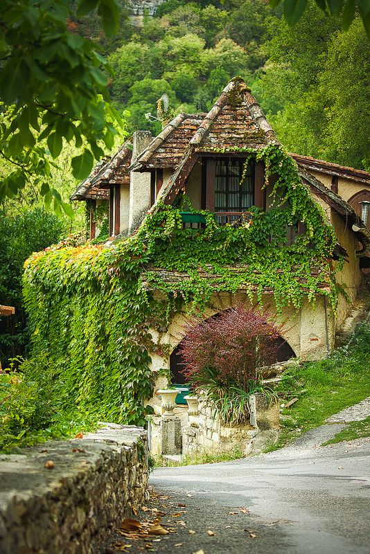 House in Rocamadour, Dordogne, France