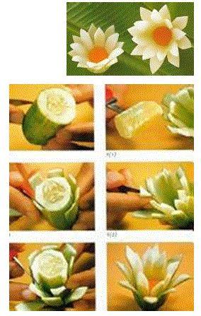 Cucumber Flower Garnish