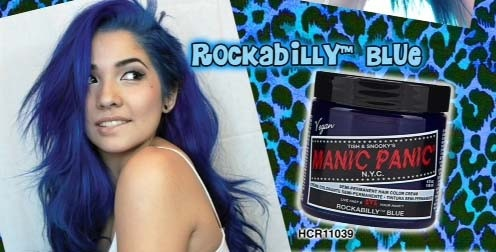 Manic Panic - Semi-Permanent Hair Colour Cream Formula - Classic Rockabilly Blue (vegan) - FriendsOfTheLagomorph