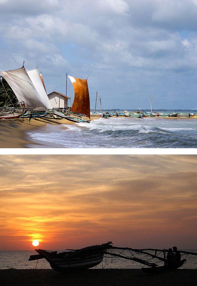 Fishing boats, Negombo, Sri Lanka #SriLanka #Negombo #Boats