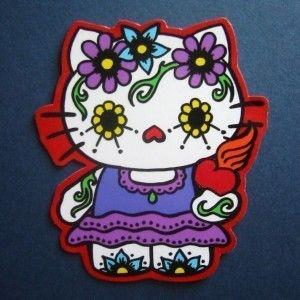 hello kitty: Dead Hello, Dead Kitty, Hellokitty, Day Of The Dead, Sugar Skulls, Tattoo, Hello Kitty, Day Of The Dead