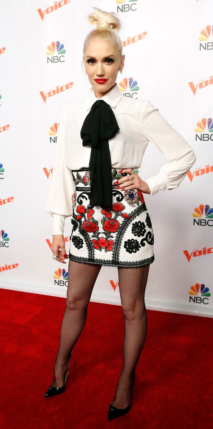 Gwen Stefani's Best Fashion Moments from Season 9 of The Voice - MATADOR FLORALS  - from InStyle.com
