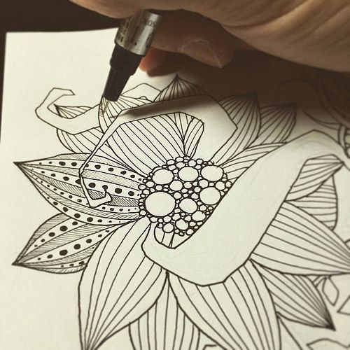 Image result for how to draw zentangle flowers
