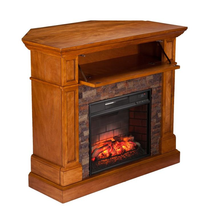 Olimpia Stone Look Convertible Infrared Media Electric Fireplace