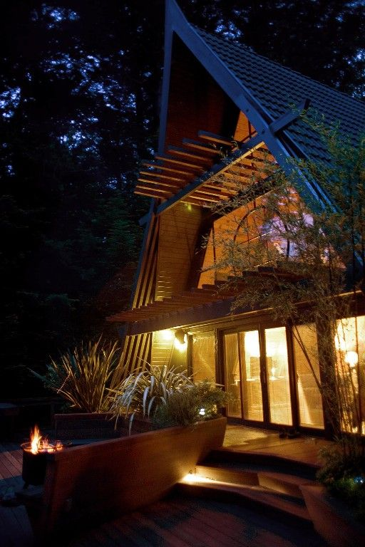 Trinidad Vacation Rental - VRBO 148455 - 2 BR North Coast House in CA, Westgate-Japanese a-Frame - Ocean Views, Hot Tub, Large Deck, Privacy...