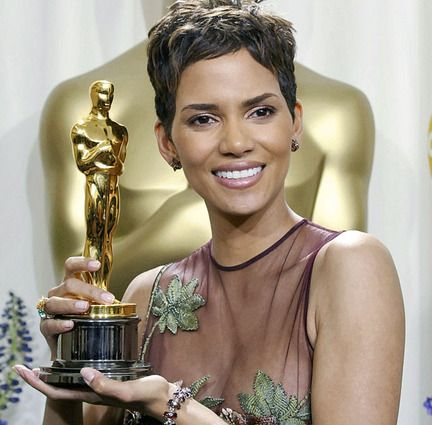 Halle Berry, first African American woman to win an Oscar for Best Actress, 2002.
