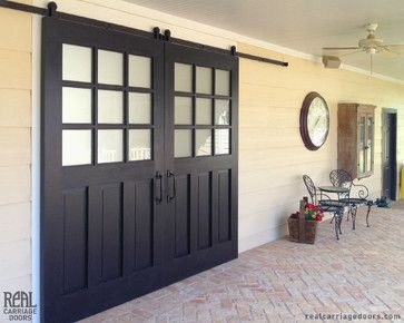 barn with porch sliding door | Exterior Sliding Barn Doors - traditional - patio - other metro - by ...