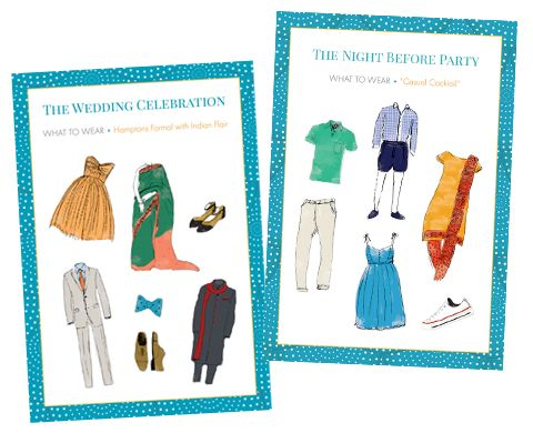 Attention bride-to-bes! Are you looking for a cute little extra to slip into your wedding invitation envelope? Katie Fischer Design creates these fun and unique dress code cards to inform your guests about what to wear on your special day.