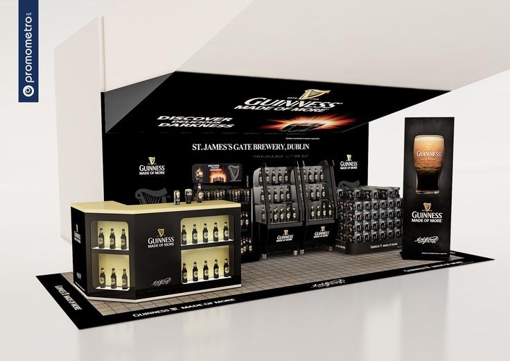 Espacio Guinness para centro comercial La Vaguada. Diseño de Promometro.
