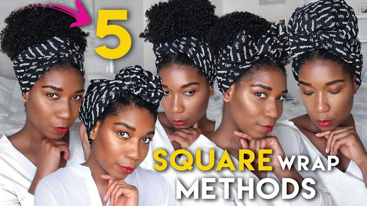 5 CLASSIC WAYS To Tie A SQUARE HEAD WRAP!! – YouTube   – Natural Hair Care