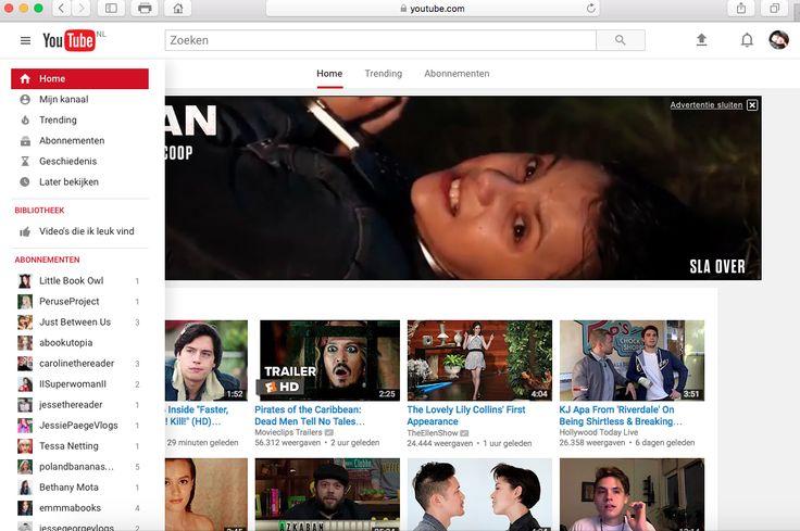 De pattern is Collapsible Panel.  De website is youtube.
