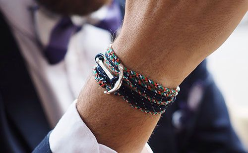 The Chuck nautical themed men's bracelet is hand fashioned out of rope with a zinc alloy fish hook to add that extra personality and flair. #rope #bracelet #accessories #menswear  Check out this: http://dappervigilante.com/