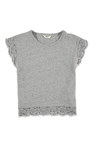 Girls Crocheted-Cap Sleeve Top (Kids) | Forever 21 girls - 2000114139