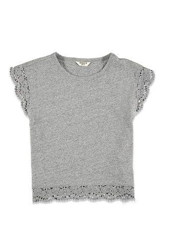 Girls Crocheted-Cap Sleeve Top (Kids) | Forever 21 girls - 2000114139