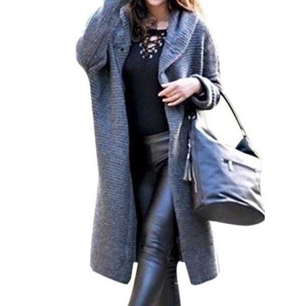 Elfen Fleece Pullover mit Zipfelkapuze  in Schwarz//Grau