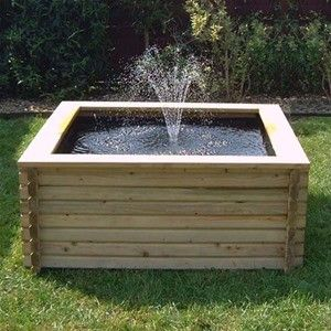 120 Gallon Square Pond with/without pump