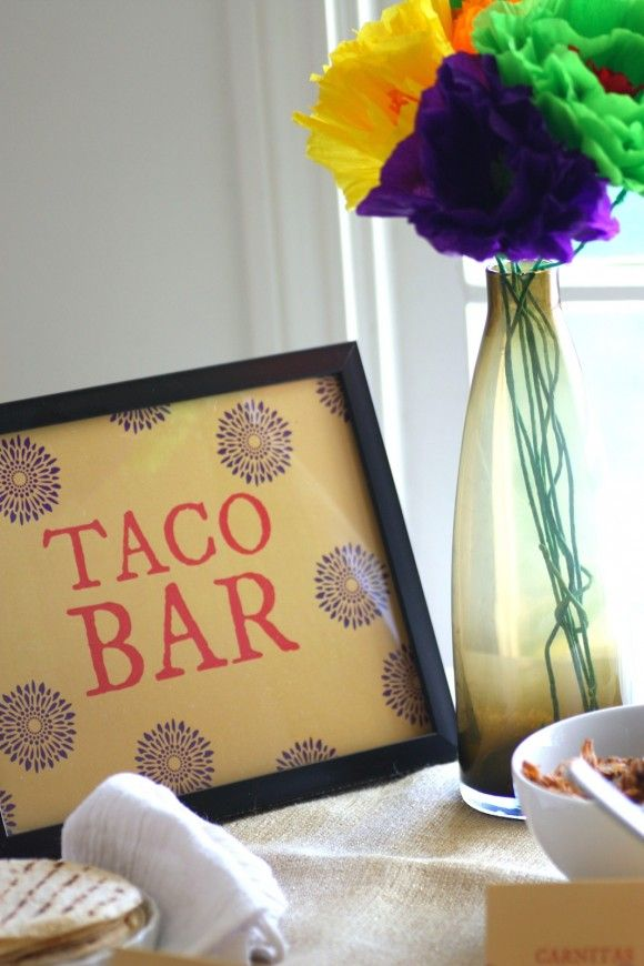Free printables for a Taco Bar and for Cinco de Mayo! See more party ideas at CatchMyParty.com!