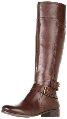 """Nine West Women's Shiza Knee-High Boot -  With a polished round toe and wrap around buckled ankle strap, the Shiza tall boots by Nine West will become an instant favorite the minute cool weather approaches. Shaft opening measures approximately 15"""".Sally forth in Nine West's Shiza knee-high boot. This equestrian-reminiscent find boasts ... #Shoes"""
