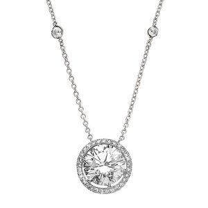 diamond solitaire necklace. Omg in love with this! So perfect!