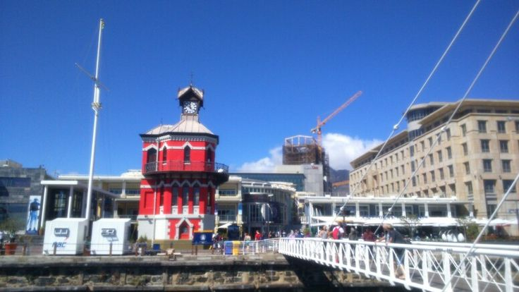 The Clock Tower is painted red again. It was yellow when Cape Town was the World Design Capital in 2014.
