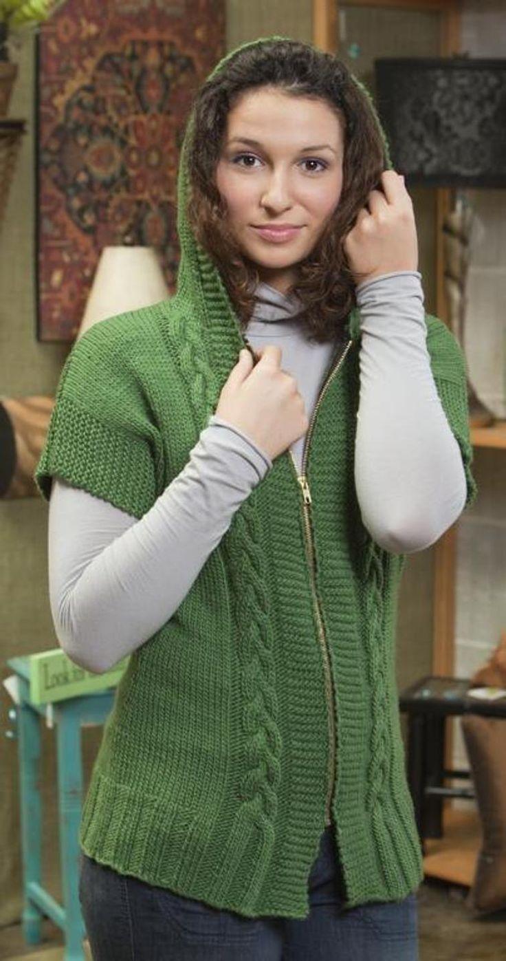 260 best knitting vests images on pinterest loom knit annie hooded vest bankloansurffo Choice Image