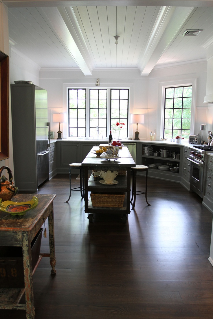 my kitchen the beams were added to match the ones in the adjoining keeping room and sunroom. Black Bedroom Furniture Sets. Home Design Ideas