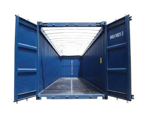 Popular Open Top Containers and Flat Racks are typically used to haul or ship oversized equipment or
