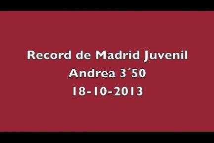 Vídeo de record de Madrid juvenil de salto con pértiga, Andrea salto 3,50.