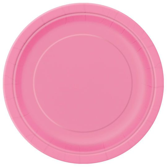 "9"" Hot Pink Dinner Plates, 8ct"