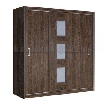 Lemari Pakaian Minimalis Denver 3 pintu geser, Lebar 180 x Depth 50 x Tinggi 200 Cm