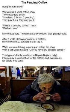 pending coffee...