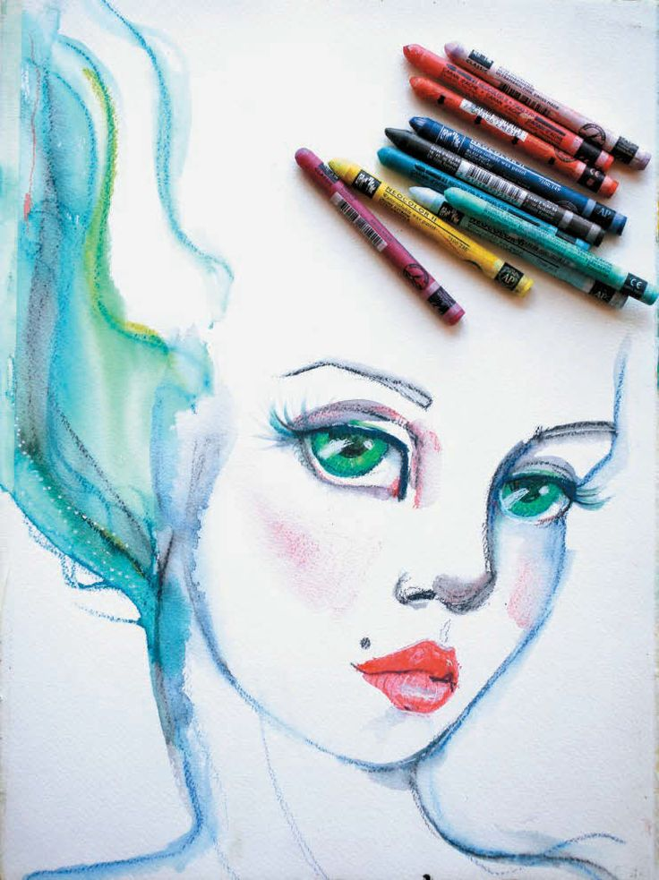Jane Davenport - The Art Of The Crayon - Art Journal Inspiration
