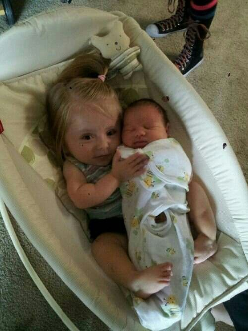 Big Sister Holding Baby Brother God S Blessings To Us
